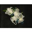 4 White Rose Corsage