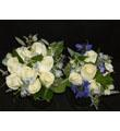 Blue & White Bridal & Maid of Honor Bouquet