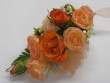 Peach and Orange Rose Corsager