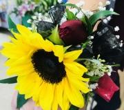 Sunflower Burst Corsage