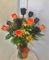 Happy Halloween Dozen Rose Bouquet