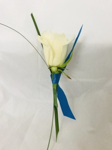 White Rose Charm Boutonniere
