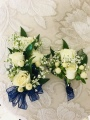White Rose Corsage and Boutonniere
