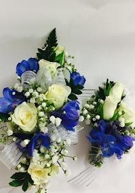 White Roses And Delphinium