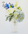 Blue Serenity Cross Bouquet