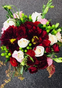 Burgendy Bliss Bridal Bouquet