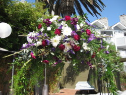 Garden Arch in Purple and White
