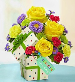 """Celebrate the Day"" Present Bouquet"