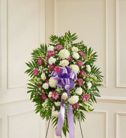 Lavender and White Sympathy Standing Spray