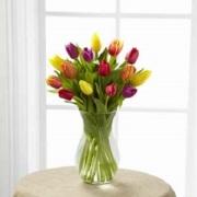 The Burst of Color Tulip Bouquet