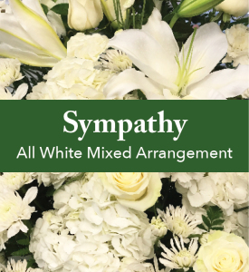 All White Mixed Arrangement