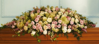 Pink & Green Casket Cover 10ACC