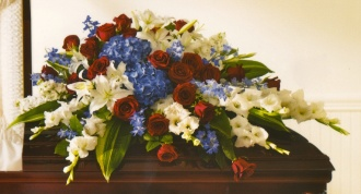 Red, White & Blue Casket Cover 22ACC