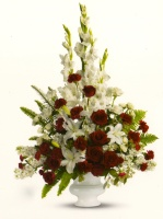 Sympathy Arrangement Red & White 20ASA