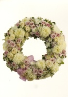 White & Pink Mixed Wreath 11AMW