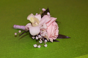 Blushing Beauty Boutonniere