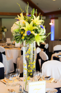 Clear Skies Tall Centerpiece