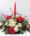 SINGLE CANDLE CENTERPIECE