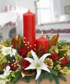 DOUBLE PILLAR CANDLE CENTERPIECE C1318
