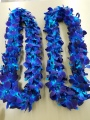 2 DOUBLE BLUE COLOR LEIS