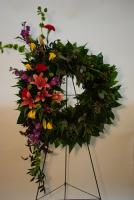 Garden Wreath of Vibrance