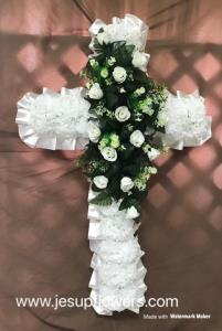 White large silk cross