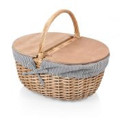Country Picnic Basket- Navy Stripes