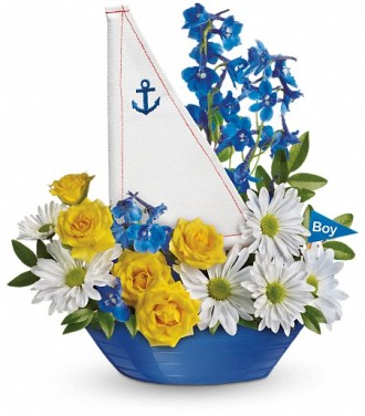 Ahoy It\'s A Boy Bouquet by Teleflora