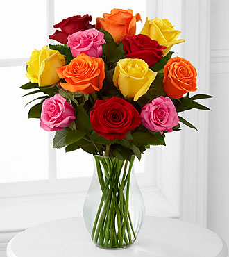 1 Doz Mixed Roses