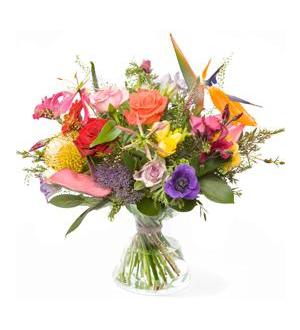 Polychrome bouquet - Exclusive Vase
