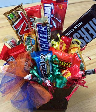 Custom Tin Candy Bouquet