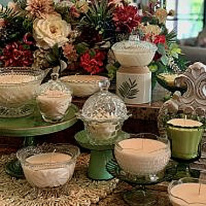 Candle Variety with Vessel