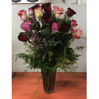 Custom Two Dozen Mixed Rose Bouquet