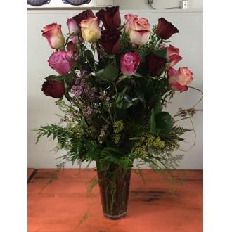 Custom Two Dozen Mixed Rose Bouquet