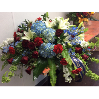 Patriotic Tribute Casket Spray
