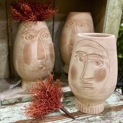 Terra Cotta Face Vase