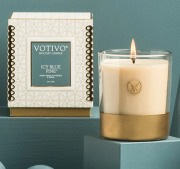Votivo Icy Blue Pine Holiday 10oz Candle