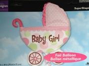 Baby Girl Buggy Balloon