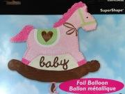 Baby Girl Rocking Horse Balloon
