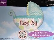 Baby Boy Buggy Balloon