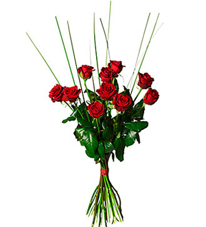 Bouquet of 10 Red Roses