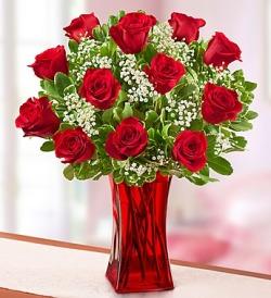 Red Vase Roses