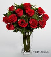 Vera Wang Vase with red roses