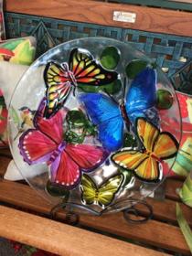 Butterfly Collage Bird Bath