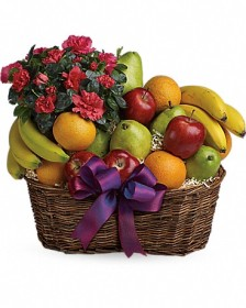 Fruit & Azalea Basket