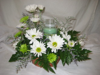 Small Cheerful Giver centerpiece