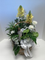 8 INCH PLANTER WITH A WILLOW TREE ANGEL