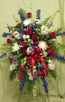A Life Honored Easel Bouquet