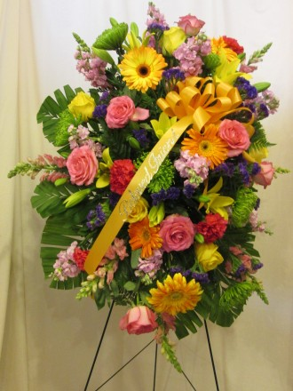 Abundant Compassion Easel Bouquet