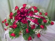 Red Rose Farewell Casket Spray